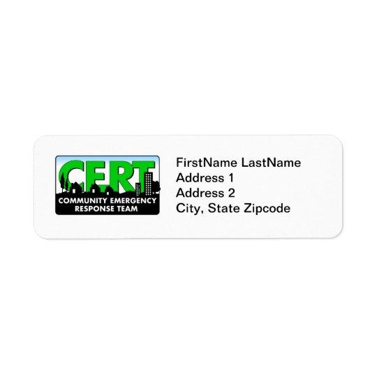 CERT Return Address Label