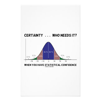 Certainty ... Who Needs It? When You Have Stats Customised Stationery