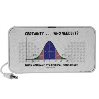 Certainty ... Who Needs It? When You Have Stats Laptop Speaker