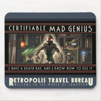 Certifiable Mad Genius Mouse Pad