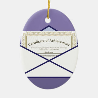 Certificate in Envelope Vector Ceramic Oval Decoration