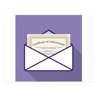 Certificate in Envelope Vector Postcard