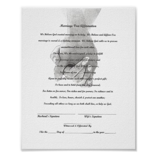 Certificate Marriage Vow Renewal Template Poster