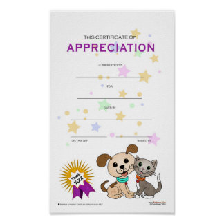 Certificate of Appreciation #01 Poster