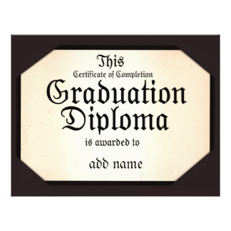 Certificate of Completion Graduation Diploma 21.5 Cm X 28 Cm Flyer