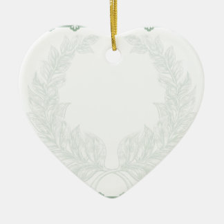 Certificate Scroll Background Template Ceramic Heart Decoration