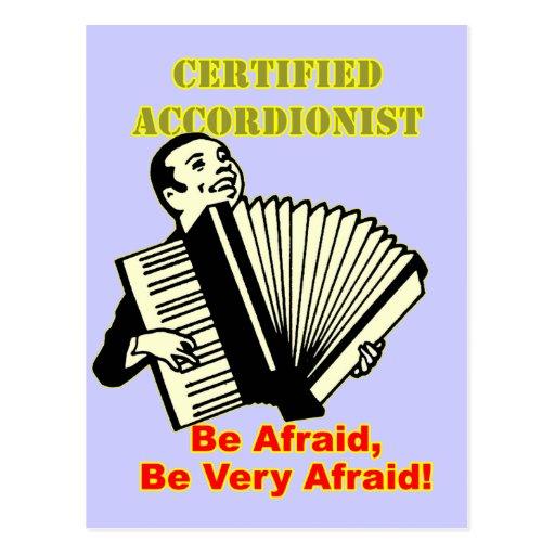 Certified Accordionist Postcards