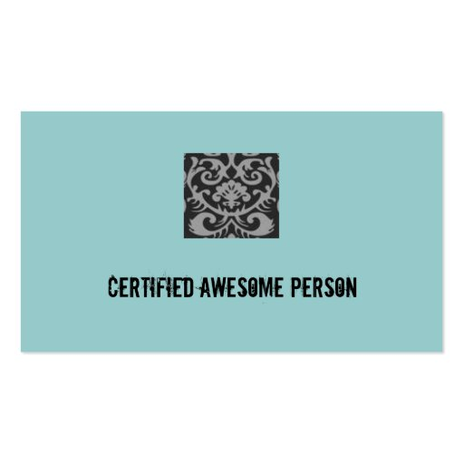 Certified Awesome Person Double-Sided Standard Business ...