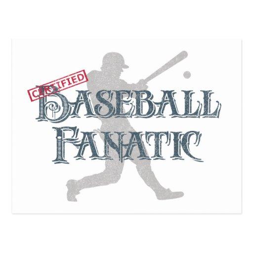 Certified Baseball Fanatic Post Card
