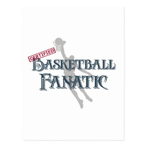 Certified Basketball Fanatic Postcard