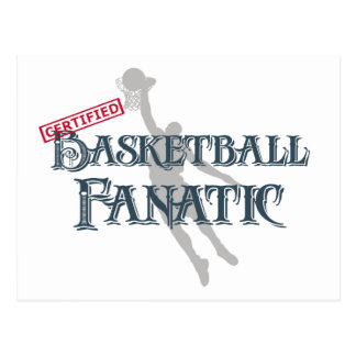 Certified Basketball Fanatic Post Cards