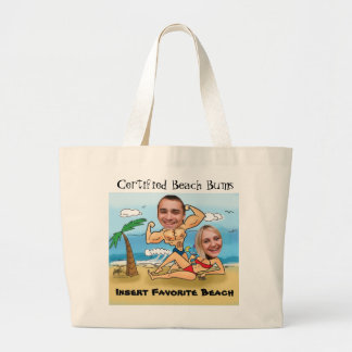 Certified Beach Bums Cut Outs Jumbo Tote Bag