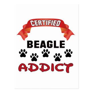 Certified Beagle Addict Postcard