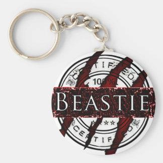 Certified Beastie Basic Round Button Key Ring