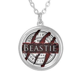 Certified Beastie Round Pendant Necklace