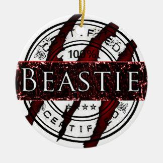 Certified Beastie Round Ceramic Decoration