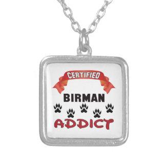 Certified Birman Addict Square Pendant Necklace