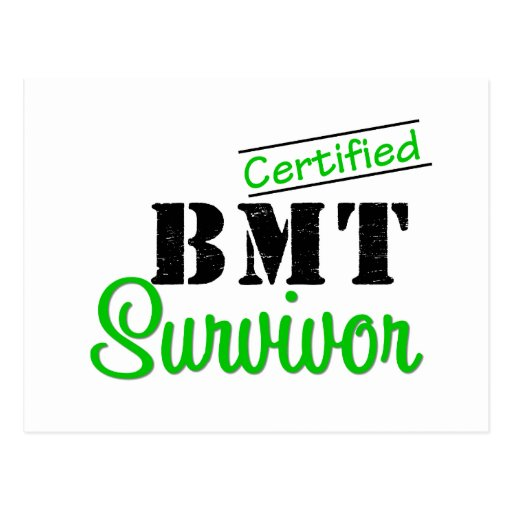 Certified BMT Survivor Post Card