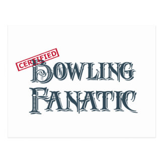 certified Bowling Fanatic Post Cards