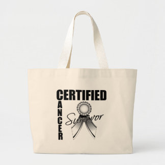 Certified Cancer Survivor - Carcinoid  Cancer Jumbo Tote Bag