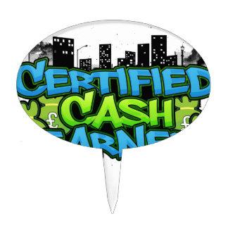 certified cash earner money stacks cake toppers