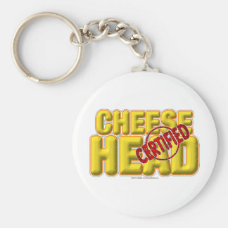 Certified CheeseHead Key Ring