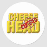 Certified CheeseHead Round Sticker