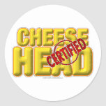 Certified CheeseHead Stickers