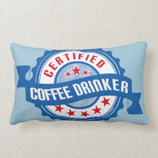 Certified Coffee Drinker Lumbar Pillow