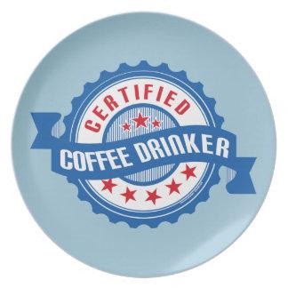 Certified Coffee Drinker Party Plate