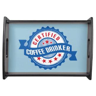 Certified Coffee Drinker Service Tray