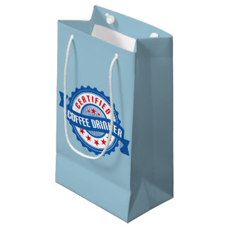 Certified Coffee Drinker Small Gift Bag
