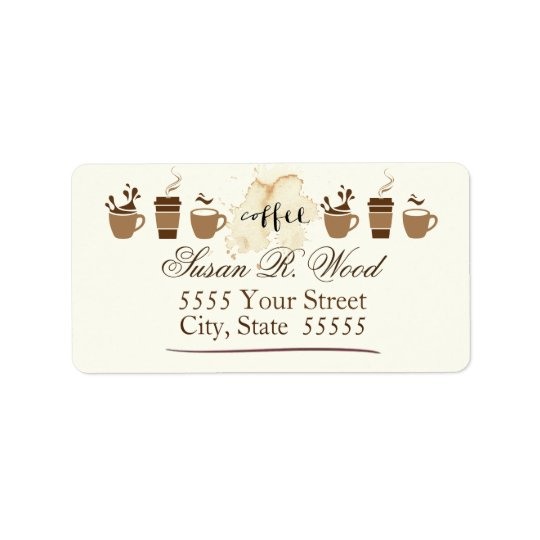 Certified Coffee Lover Return Address Labels
