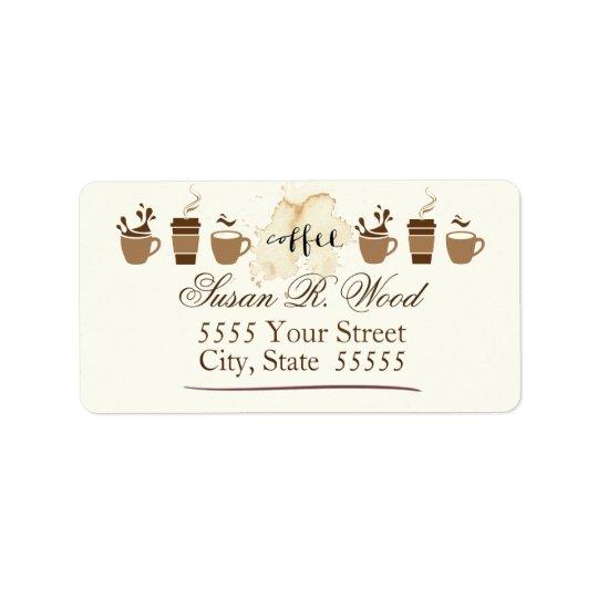 Certified Coffee Lover Return Address Labels