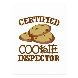 Certified Cookie Inspector Postcard