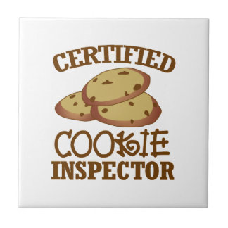 Certified Cookie Inspector Small Square Tile