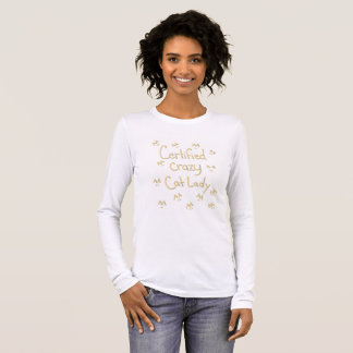 Certified Crazy Cat Lady Long Sleeve T-Shirt