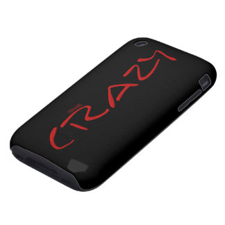 Certified Crazy Official Stamp Capital Letters iPhone 3 Tough Cases