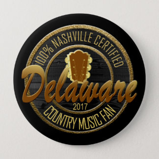 Certified Delaware Country Music Fan Round Button