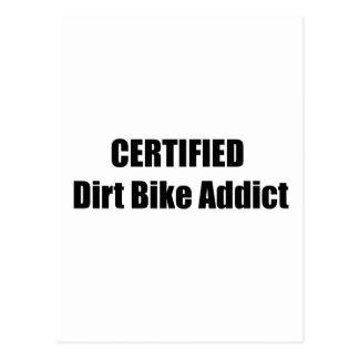 Certified Dirt Bike Addict Post Card
