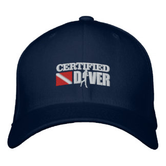 Certified Diver 2 Embroidered Caps Baseball Cap