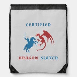 Certified Dragon Slayer Drawstring Bag