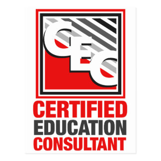 Certified Education Consultant Postcard