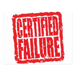 Certified Failure stamp Postcard