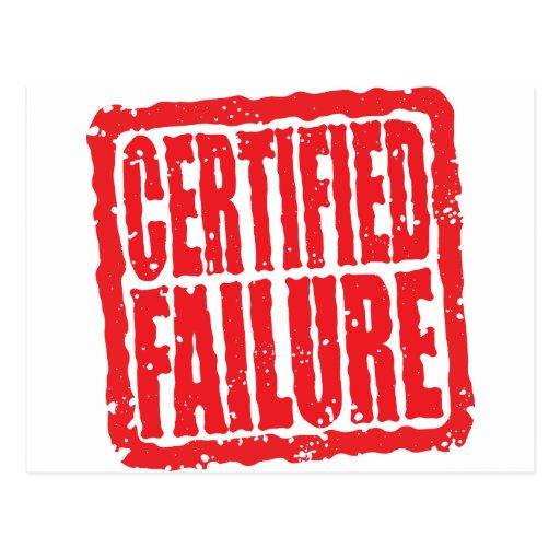 Certified Failure stamp Postcard