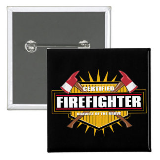 Certified Firefighter 15 Cm Square Badge