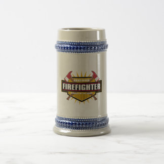 Certified Firefighter Beer Stein