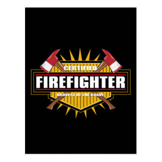 Certified Firefighter Postcards