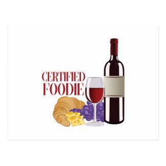 Certified Foodie Postcard