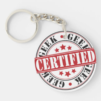 Certified Geek Single-Sided Round Acrylic Key Ring
